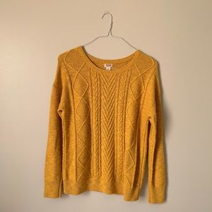 Mustered Yellow MOSSIMO Sweater